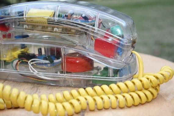 1980s Clear Phone