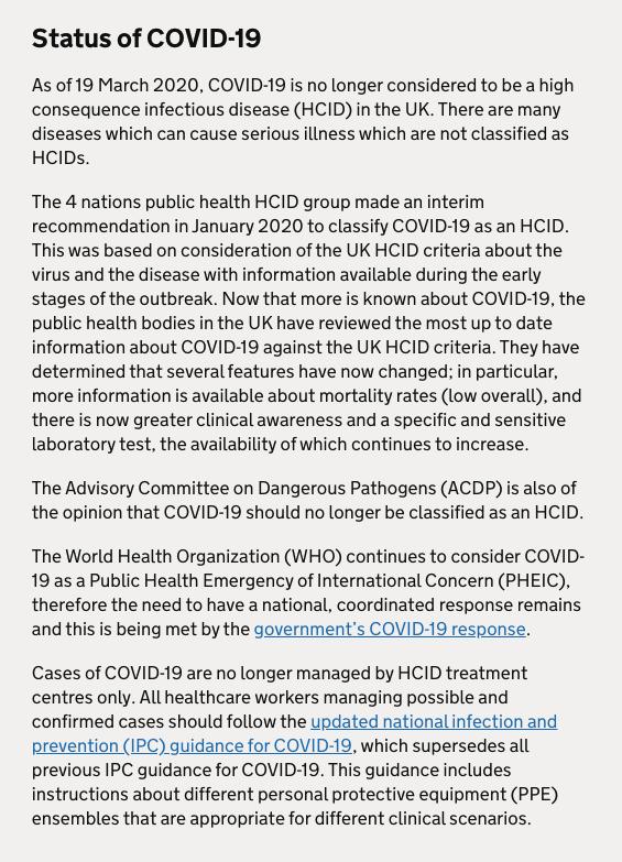 Status of Covid